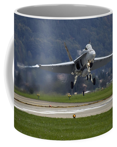 Axalp Coffee Mug featuring the photograph Take Off by Angel Ciesniarska
