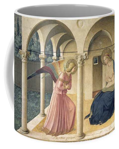 Angel Coffee Mug featuring the painting The Annunciation by Fra Angelico