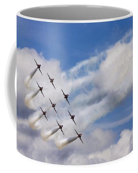 Red Arrows Coffee Mug featuring the photograph The Diamond Bend by Angel Ciesniarska