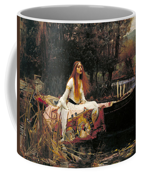 The Lady Of Shalott Coffee Mug featuring the painting The Lady Of Shalott by John William Waterhouse