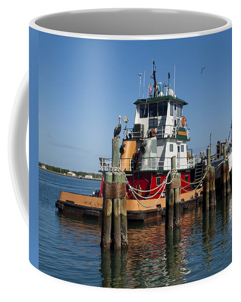 Florida Coffee Mug featuring the photograph Tug Indian River by Allan Hughes