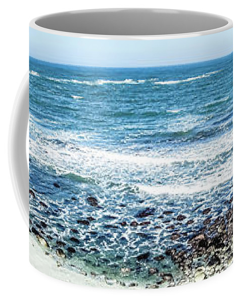 Landscape Coffee Mug featuring the photograph Usa California Pacific Ocean Coast Shoreline by Alex Grichenko