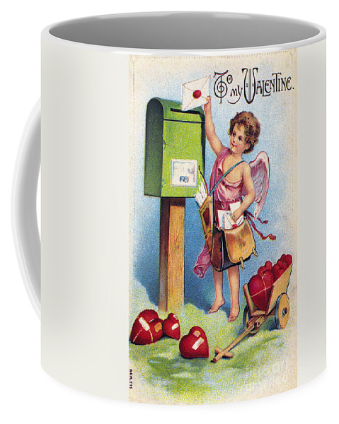 1909 Coffee Mug featuring the photograph Valentines Day Card by Granger