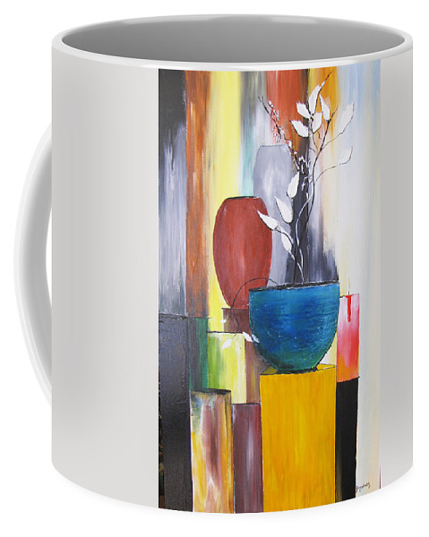 Still Life Coffee Mug featuring the painting 3 Vases by Gary Smith