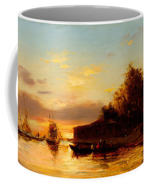 Felix Ziem Coffee Mug featuring the painting View Of Istanbul by Felix Ziem