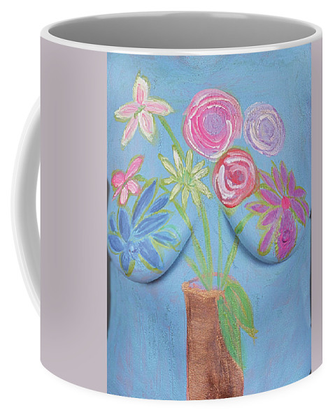 Hadassah Greater Atlanta Coffee Mug featuring the photograph 3. Wendy Bradley, Artist, 2017 by Best Strokes - formerly Breast Strokes - Hadassah Greater Atlanta