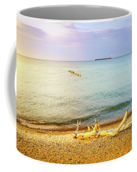 America Coffee Mug featuring the photograph Whitefish Point, Michigan by Alexey Stiop