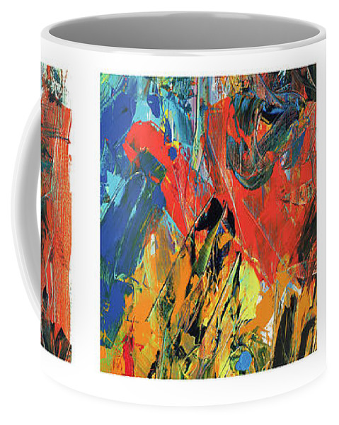 Frustration Coffee Mug featuring the painting 3 X Frustrations by Bjorn Sjogren