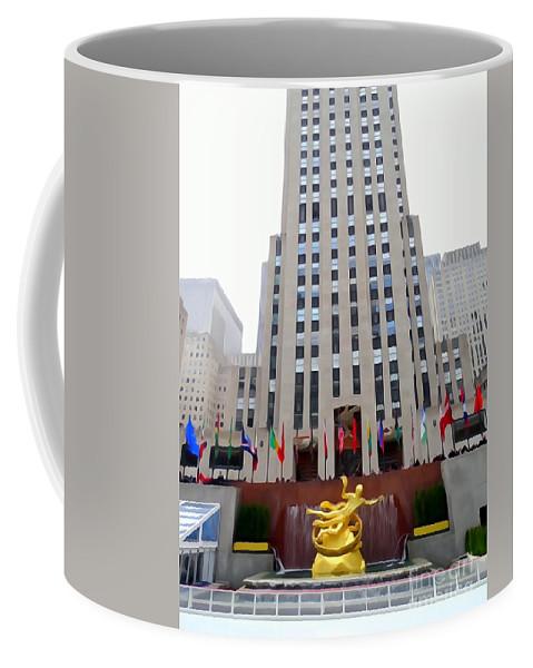 Digital Art Coffee Mug featuring the photograph 30 Rock by Ed Weidman