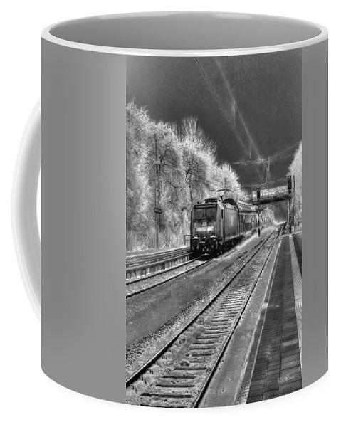 Ice Train Coffee Mug featuring the digital art 301 Ice Train by Mark Brooks