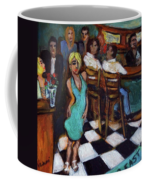 Restaurant Coffee Mug featuring the painting 32 East by Valerie Vescovi