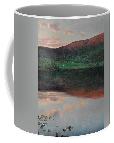 Christian Skredsvig (1854-1924) Evening Landscape Coffee Mug featuring the digital art Landscape by Mark Carlson