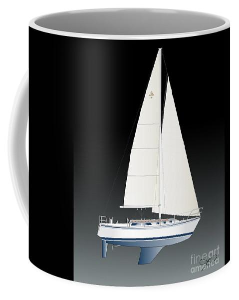 Egina Gallant Sailboats Coffee Mug featuring the photograph 33b Gallant Sailing by Regina Marie Gallant