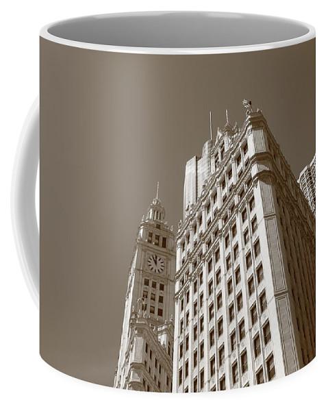 America Coffee Mug featuring the photograph Chicago Skyline by Frank Romeo
