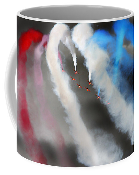 Red Arrows Coffee Mug featuring the photograph Red Arrows by Angel Ciesniarska