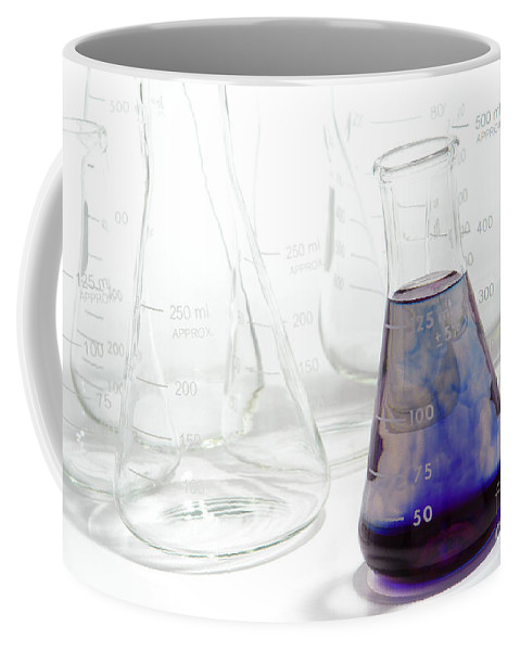 Chemical Coffee Mug featuring the photograph Laboratory Equipment In Science Research Lab by Olivier Le Queinec