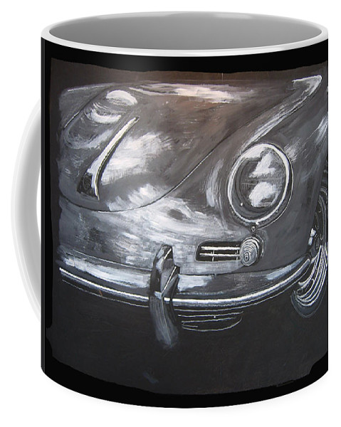 Car Coffee Mug featuring the painting 356 Porsche Front by Richard Le Page