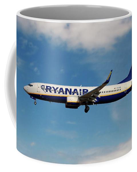 Ryanair Coffee Mug featuring the photograph Ryanair Boeing 737-8as by Smart Aviation