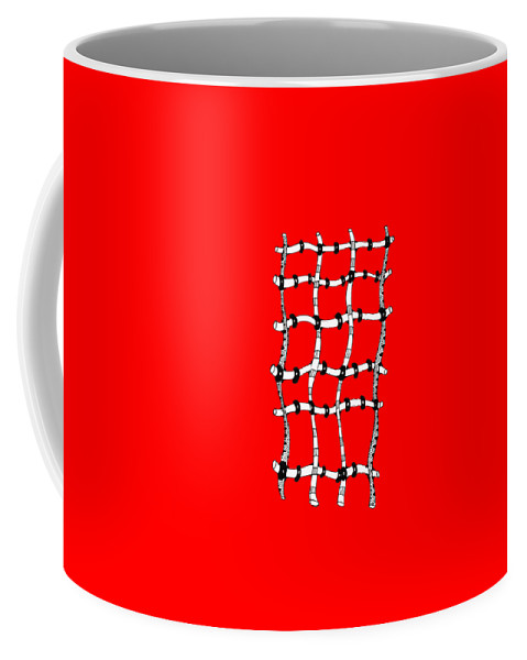 Abstract Coffee Mug featuring the drawing 36 by Sally Bosenburg