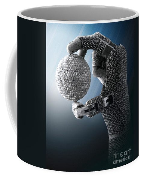 Science Coffee Mug featuring the photograph 3d Printing Additive Robotic Hand by Science Source