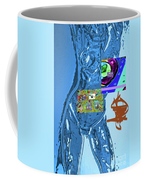 Walter Paul Bebirian Coffee Mug featuring the digital art 4-1-2015fabcdefghijklmnopqr by Walter Paul Bebirian