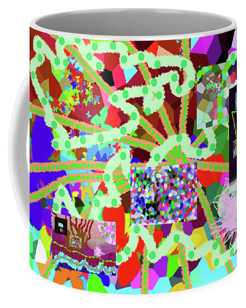 Walter Paul Bebirian Coffee Mug featuring the digital art 4-9-2015abcdefghijklmnopqrtu by Walter Paul Bebirian