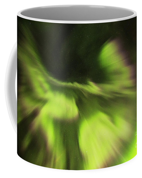Iceland Coffee Mug featuring the photograph Abstract Aurora by Gunnar Orn Arnason