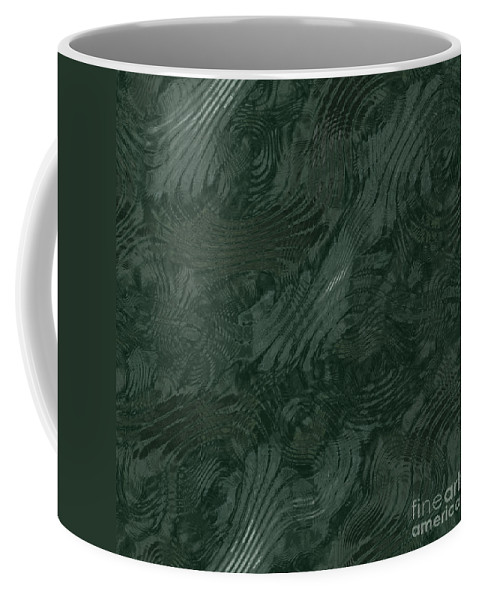 Alien Coffee Mug featuring the digital art Alien Fluid Metal by Miroslav Nemecek