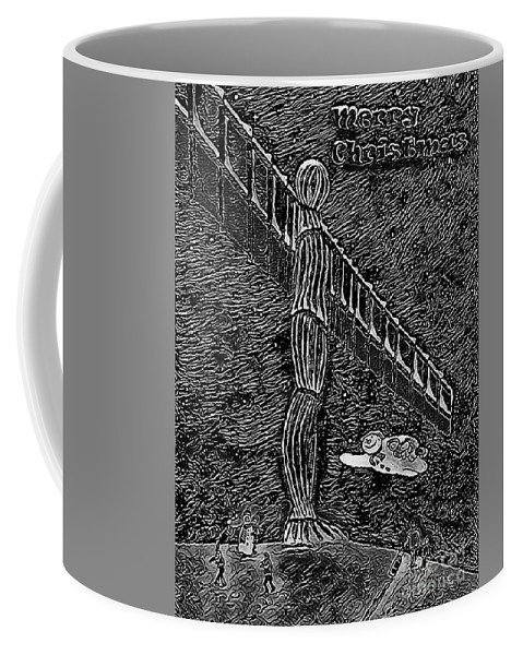 Angel Christmas Coffee Mug featuring the painting Angel Of The North by Neal Crossan
