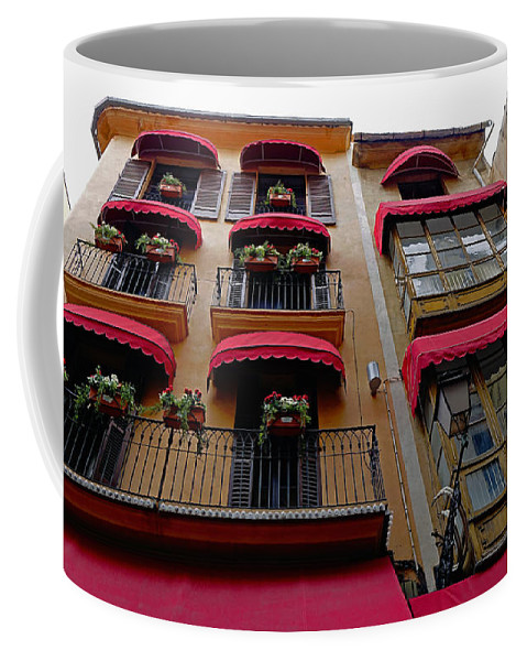 Architecture Coffee Mug featuring the photograph Artistic Architecture In Palma Majorca, Spain by Richard Rosenshein