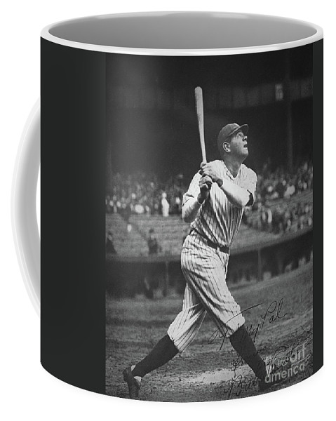 Babe Ruth Coffee Mug featuring the photograph Babe Ruth by American School