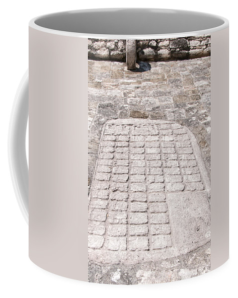 Mexico Quintana Roo Coffee Mug featuring the digital art Ball Court At The Coba Ruins by Carol Ailles