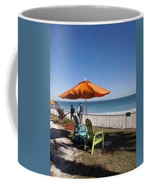 Florida Coffee Mug featuring the photograph Beachland Boulevard At Vero Beach In Florida by Allan Hughes