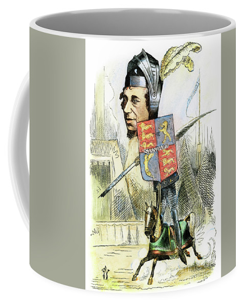 19th Century Coffee Mug featuring the drawing Benjamin Disraeli by Granger