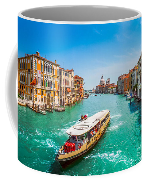 Adriatic Coffee Mug featuring the photograph Canal Grande With Basilica Di Santa Maria Della Salute, Venice by JR Photography