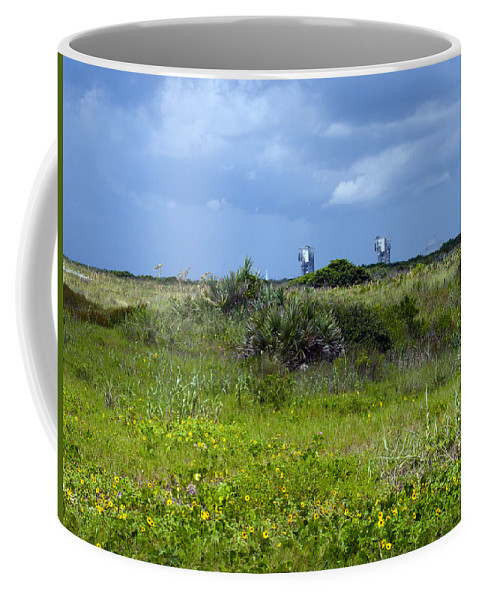 Florida; Beach; Ocean; Waves; Wave; Surf; Sand; Sandy; Coast; Shore; Atlantic; Cape; Canaveral; Scen Coffee Mug featuring the photograph Cape Canaveral Florida by Allan Hughes
