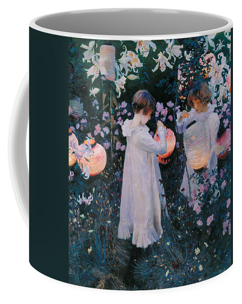 Sargent Coffee Mug featuring the painting Carnation Lily Lily Rose by John Singer Sargent