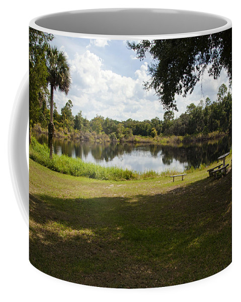Cassadaga Coffee Mug featuring the photograph Cassadaga Spiritualist Camp In Florida by Allan Hughes