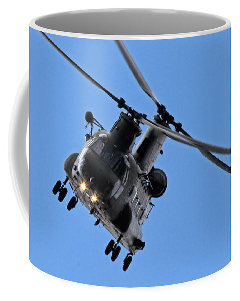 Chinook Coffee Mug featuring the photograph Chinook by Angel Ciesniarska