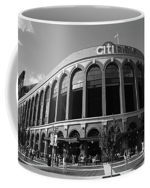 Arch Coffee Mug featuring the photograph Citi Field - New York Mets by Frank Romeo