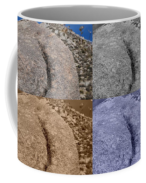 Sepia Coffee Mug featuring the photograph 4 Crack Rocks New Mexico by Rob Hans