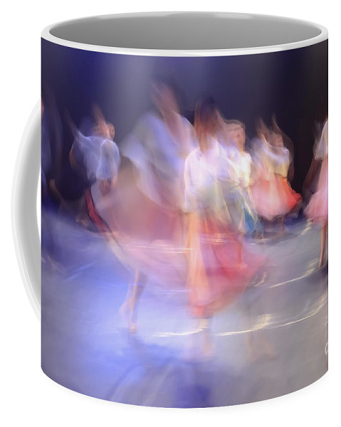Red Coffee Mug featuring the photograph Dancers In Motion by Vladi Alon