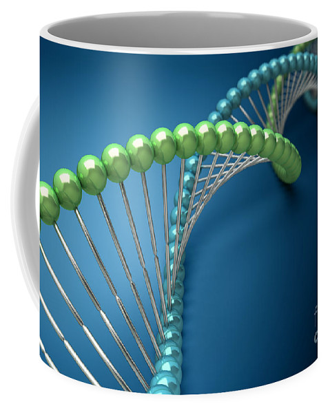 Digitally Generated Image Coffee Mug featuring the photograph Dna Structure by Science Picture Co