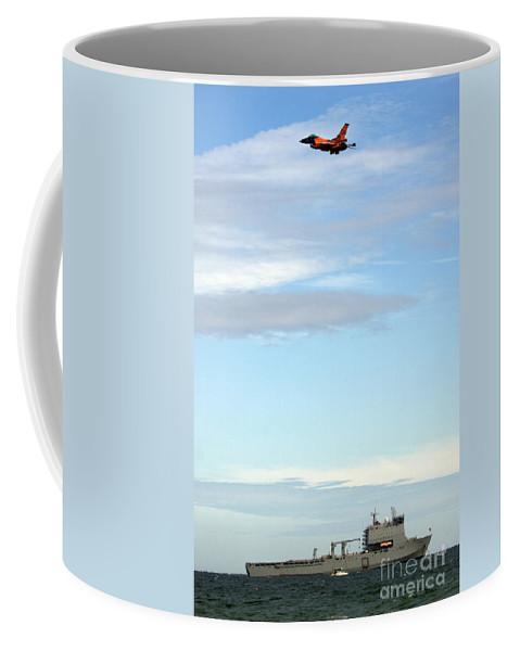Aircraft Coffee Mug featuring the photograph F16 by Angel Ciesniarska