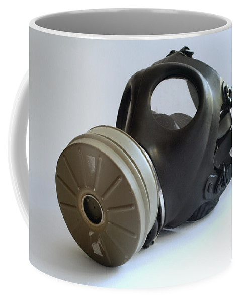 Psi Coffee Mug featuring the photograph Gas Mask by Ilan Rosen