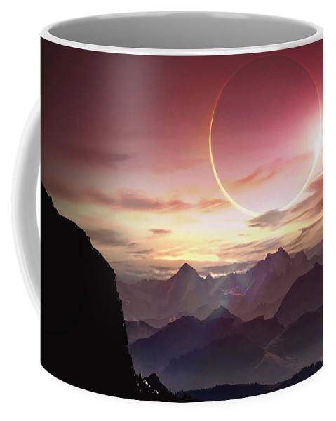 Landscape Coffee Mug featuring the digital art Landscape by Zia Low