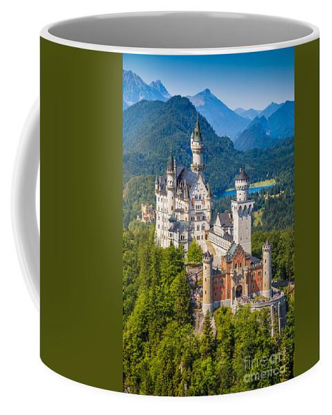 Alps Coffee Mug featuring the photograph Neuschwanstein Fairytale Castle by JR Photography