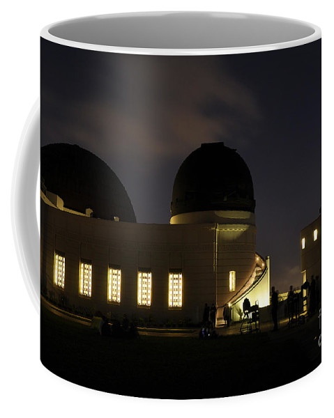 Clay Coffee Mug featuring the photograph Night At Griffeth Observatory by Clayton Bruster
