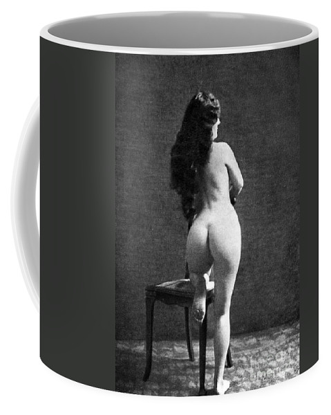 Coffee Mug featuring the painting Nude Posing: Rear View by Granger