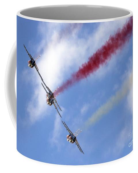 Airshow Coffee Mug featuring the photograph Patrouille De France by Angel Ciesniarska